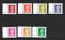 GB 17/03 Tariff Changes - 7 Stamps With Cylinder Numbres  In Margin - Machins