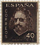 Ref. 85573 * NEW *  - SPAIN . 1945. 3rd CENTENARY OF THE DEATH OF QUEVEDO. 3 CENTENARIO DE LA MUERTE DE QUEVEDO - 1931-50 Ungebraucht