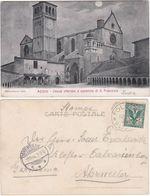 ASSISI - PERUGIA - CHIARO DI LUNA - VIAGG. 1904 -55224- - Perugia