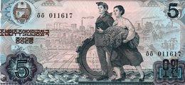NORTH KOREA 5 WON 1978 P-19e  UNC SERIE 011617 - Korea, North