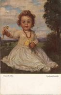 """Corneille Max. Girl With Flowers. Lebensfreude"" Fine Painting, Vintage German Postcard - Retratos"