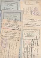 Lot De 7 Lettres De Change ST HIPPOLYTE Du Fort Gard - Port Compris - Bills Of Exchange