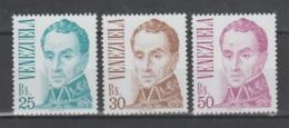 VENEZUELA  1983   **   MNH   YVERT   1139/41  VALOR   55 € - Venezuela