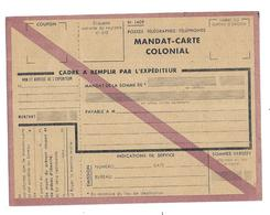KB539 - MANDAT CARTE COLONIAL - Lettres De Change