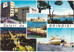 BRINDISI - SALUTI DA.. - VEDUTINE - VIAGG. -67351- - Brindisi