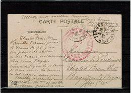 CTN60/4 - I GM CPA EN FM TARBES / BAGNERES 29/10/1915 CACHET DE VAGUEMESTRE - WW1 (I Guerra Mundial)