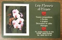 RÉUNION LES FLEURS D'ELISA CARTE À CODE PRIVÉE XTS TELECOM PHONECARD CARD QUE POUR LA COLLECTION - France