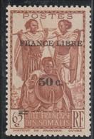 COTE DES SOMALIS  Timbre De 1938-39 Surchargé  N° 233* - Nuovi