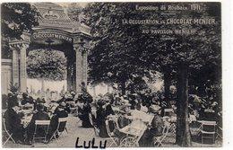 DEPT 59 : Exposition De Roubaix 1911 , La Dégustation Du Chocolat Menier Au Pavillon Menier ( Tampon Exp Au Dos ) - Roubaix