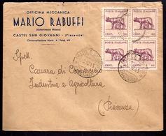 GR2137  - LETTERA LUOGOTENENZA CON QUARTINA LUPA AL NORD - 5. 1944-46 Lieutenance & Humberto II