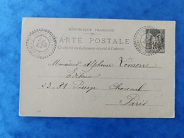 Carte Postale 1901 Gevigney Mercey Cachet Facteurs Boitiers Haute Saône Franche Comté - France