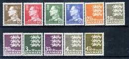 1967-70 DANIMARCA 464/470d SET MNH ** - Danimarca