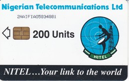 TARJETA DE NIGERIA DE 200 UNITS DE UNA ANTENA PARABOLICA PARA SATELITES (SATELLITE) - Nigeria