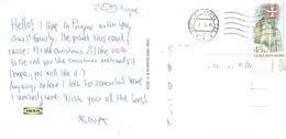 27K : Czech Republic Architecture Building Stamp Used On Postcard - Czech Republic