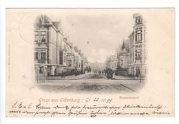 """Ansichtskarte """" Gruss Aus Oldenburg"""" Roonstrasse , 1899 - Oldenburg"""