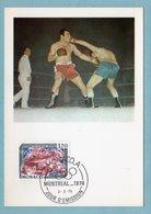 Carte Maximum Monaco 1976 - JO - Jeux Olympiques (olympiade) De Montréal 1976 - Boxe - YT 1061 - Cartes-Maximum (CM)