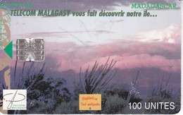 TARJETA DE MADAGASCAR DE 100 UNITES VEGETATION MALGACHE - Madagascar