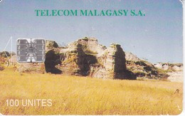 TARJETA DE MADAGASCAR DE 100 UNITES DE UN PAISAJE - Madagascar