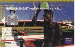 TARJETA DE MADAGASCAR DE 150 UNITES DE DOUCHE A BORD - Madagascar