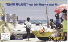 TARJETA DE MADAGASCAR DE 50 UNITES DE RETOUR DE LA PECHE - Madagascar