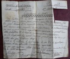 Révolution . Armée Révolutionnaire Du Midi . Certificat De Bonne Conduite 1794 à Pierre Tramier , De Pernes (Vaucluse). - Documentos