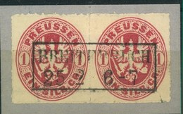 """1865 (ca.): Ra2 """"BREITENBACH"""" Mittig Auf Kabinettbriefstück Mit Paar 1 Gr. Wappen - Prusse"""