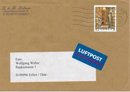 Österreich Kossen TGST 2002 Mi. 2363 Wien Schönlaterngasse Luftpost - Label Brief Nach Deutschland - 1945-.... 2ème République