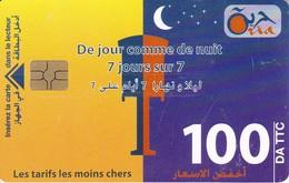 TARJETA DE ARGELIA DE 100DA DE JOUR COMME DE NUIT - Argelia