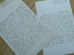 Hermann OELSCHLAGER (1839-1908) POETE Allemand [ Goethe Museum ] Deutsch Dichter.  2 X AUTOGRAPH - Autografi