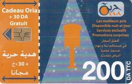 TARJETA DE ARGELIA DE 200DA DE CADEAU ORIA + 30 GRATUIT - Algerien