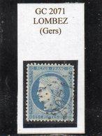 Gers - N° 60A Obl GC 2071 Lombez - 1871-1875 Cérès