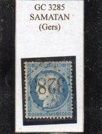 Gers - N° 60A Obl GC 3205 Samatan - 1871-1875 Cérès