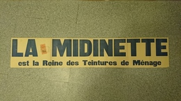 AFFICHE BANDEROLE FISCAL 10C 2/10 MARSEILLE LA MIDINETTE TEINTURES MENAGE PUB - Afiches