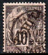 13844 Tahiti 11 Selo Das Colonias Com Sobrecarga U - Gebruikt