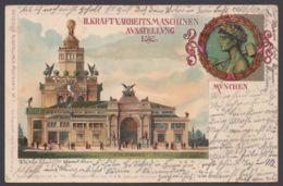 """""""München"""", Arbeitsmaschinenausstellung, 1898, Farbig, Gelaufen - München"""
