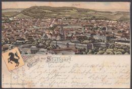 """Stuttgart"", Farb-Litho, 1897 Gelaufen - Stuttgart"
