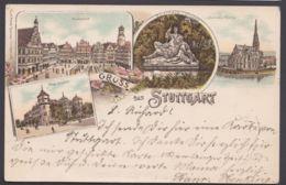 """Stuttgart"", Farb-Litho, 1898 Gelaufen - Stuttgart"
