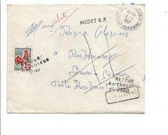LETTRE DE LAMONTJOIE LOT ET GARONNE 1967  JOLI PARCOURS - Postmark Collection (Covers)