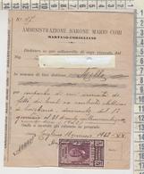 Martano Lecce / Corigliano D'otranto Lecce Regno Ricevuta Con Marca Da Bollo 1942 - Documents Historiques