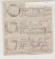 Cortina D'ampezzo Belluno Poste Italiane Telegrafi Ricevute Modulo 22 I  1942 - Documents Historiques