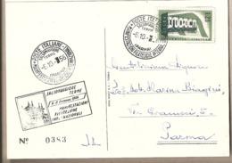 Italia - Cartolina Viaggiata Con Annullo Speciale: Manifestazioni Filateliche Internazionali A Salsomaggiore (PR) - 1956 - 1946-.. République