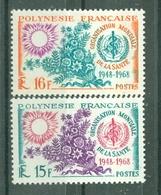 POLYNESIE -  N° 60** MNH Et 61** MNH LUXE FRAICHEUR POSTALE - Unused Stamps