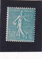 FRANCE 1937-39 - YT N°362 - 50 C. Turquoise - Type Semeuse Lignée - Neuf** - TTB Etat - 1903-60 Semeuse A Righe