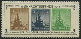 THÜRINGEN Bl. 1xa **, 1945, Block Antifa, Weißes Kartonpapier, Type II, Pracht, Mi. 450.- - Zone Soviétique
