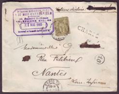 """SEINE - LSC - Tàd T84 PARIS 10 (sur N° 82 + """" CHARGE """" -> Nantes (42), Descriptif De Chargement """"P.10"""" - Marcophilie (Lettres)"""