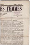 """SEINE - PARIS (8-1-1870) - Timbre Journal N° 7 (2c Lilas) Oblitération Typo Sur Journal Complet  """" Le Droit Des Femmes """" - 1849-1876: Periodo Classico"""