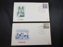 """BELG.1971 1614 & 1615 FDC """" Mechelen & St-Hubert """" - FDC"""