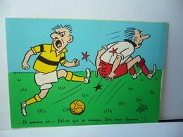FANTAISIE SPORT FOOTBALL ET COMME CA EST CE QUE MARQUE BIEN MON HOMME CPM BY MARCEL VAYSSE EDITEUR BAZEMONT S&L - Sonstige