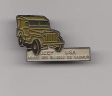 PIN'S JEEP USA-MUSEE DES BLINDES DE SAUMUR-RARE- - Army