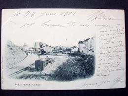 06 ,vence ,la Gare , Vue Générale  En 1901.........rare - Vence